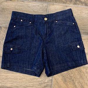 White House Black Market Denim Jean Shorts Size 4
